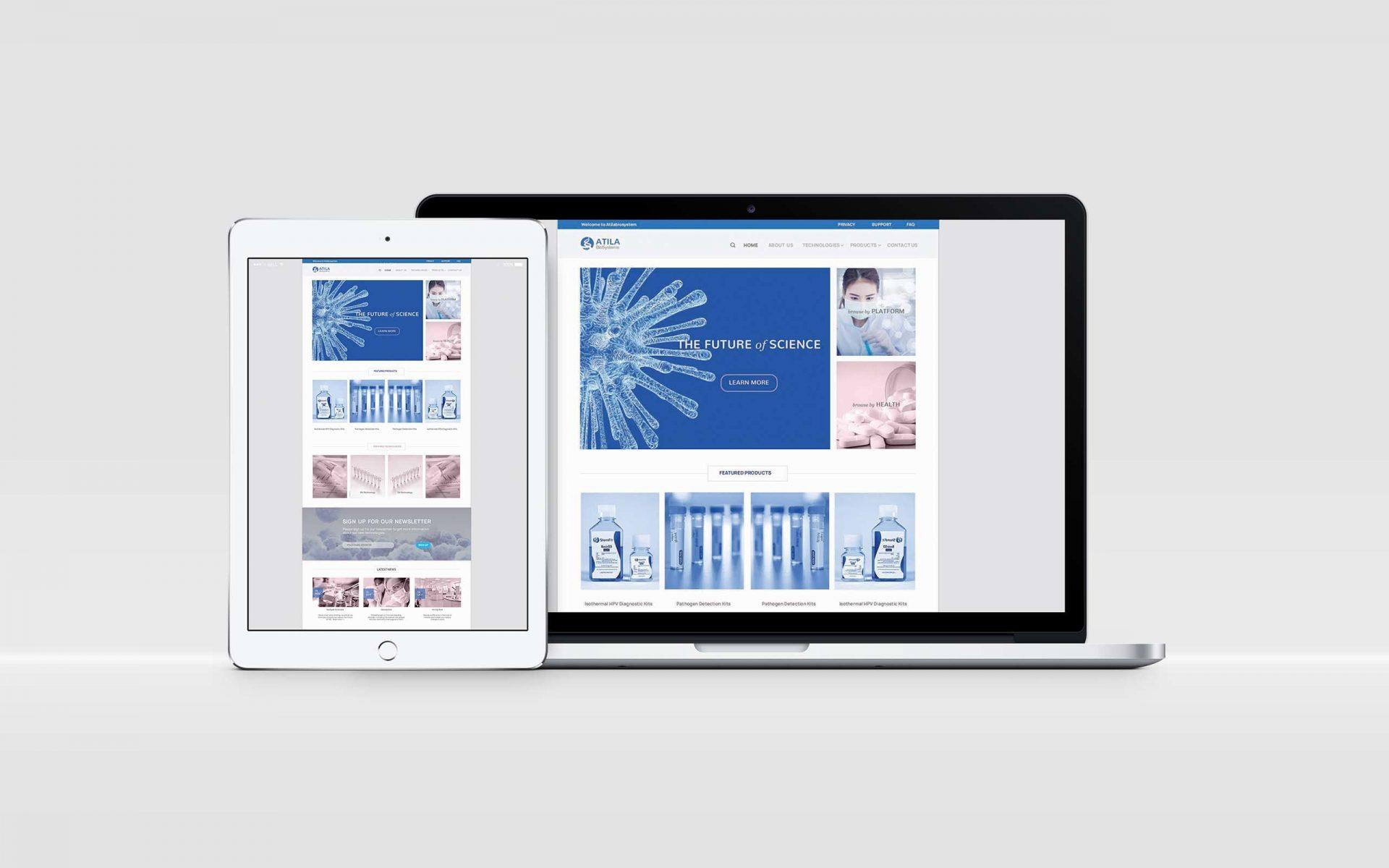 生物科技网站设计