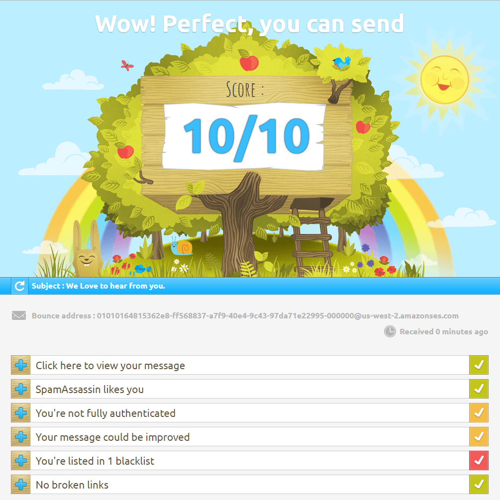 DBWebs Email Spam Test